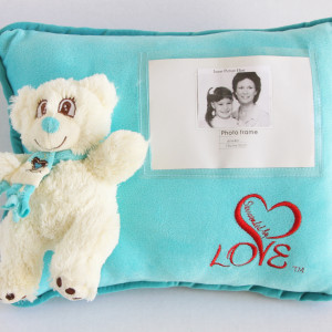 Bleu personalized pillow Surrounded By Love