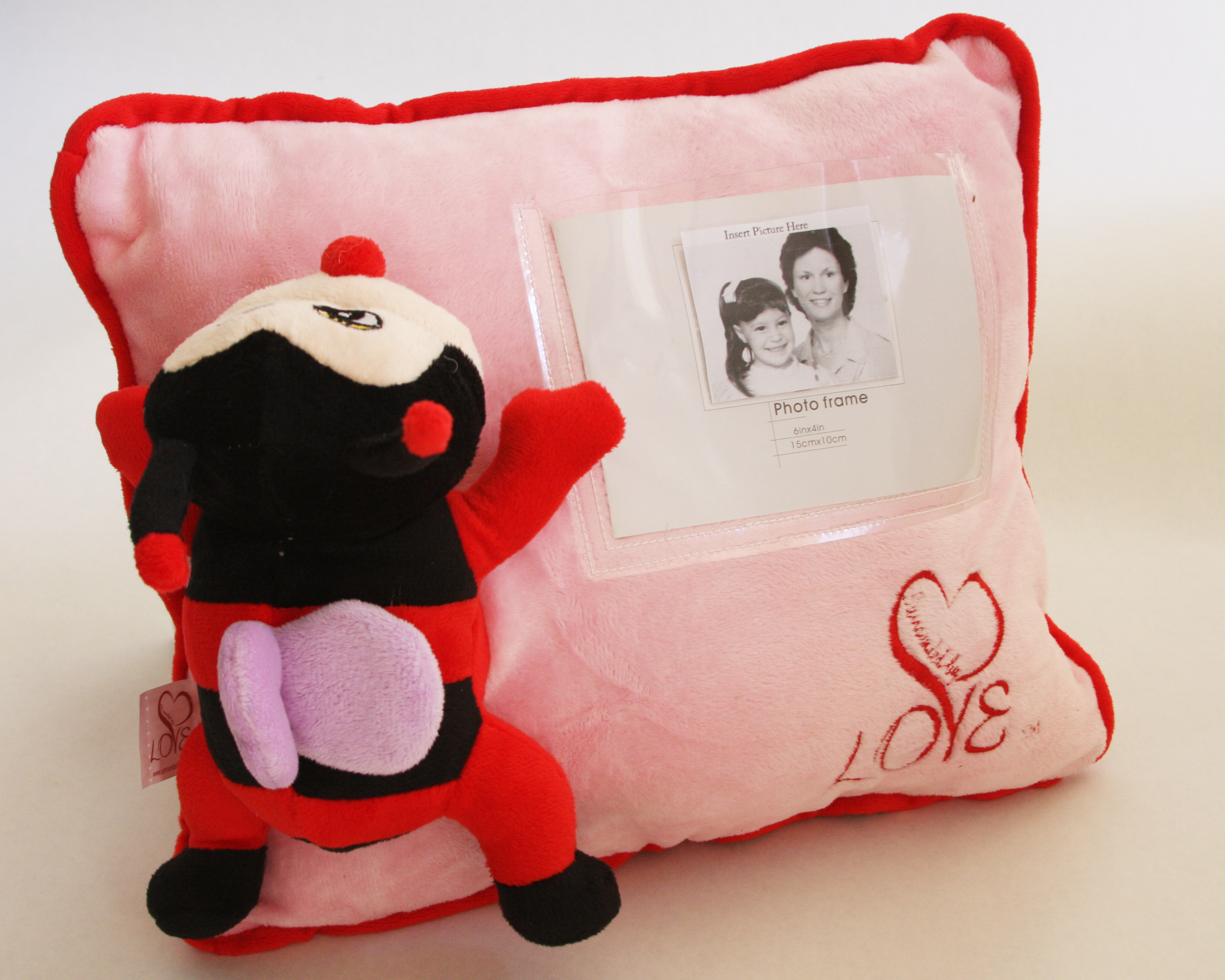 LoveBug personalized pillow Surrounded By Love
