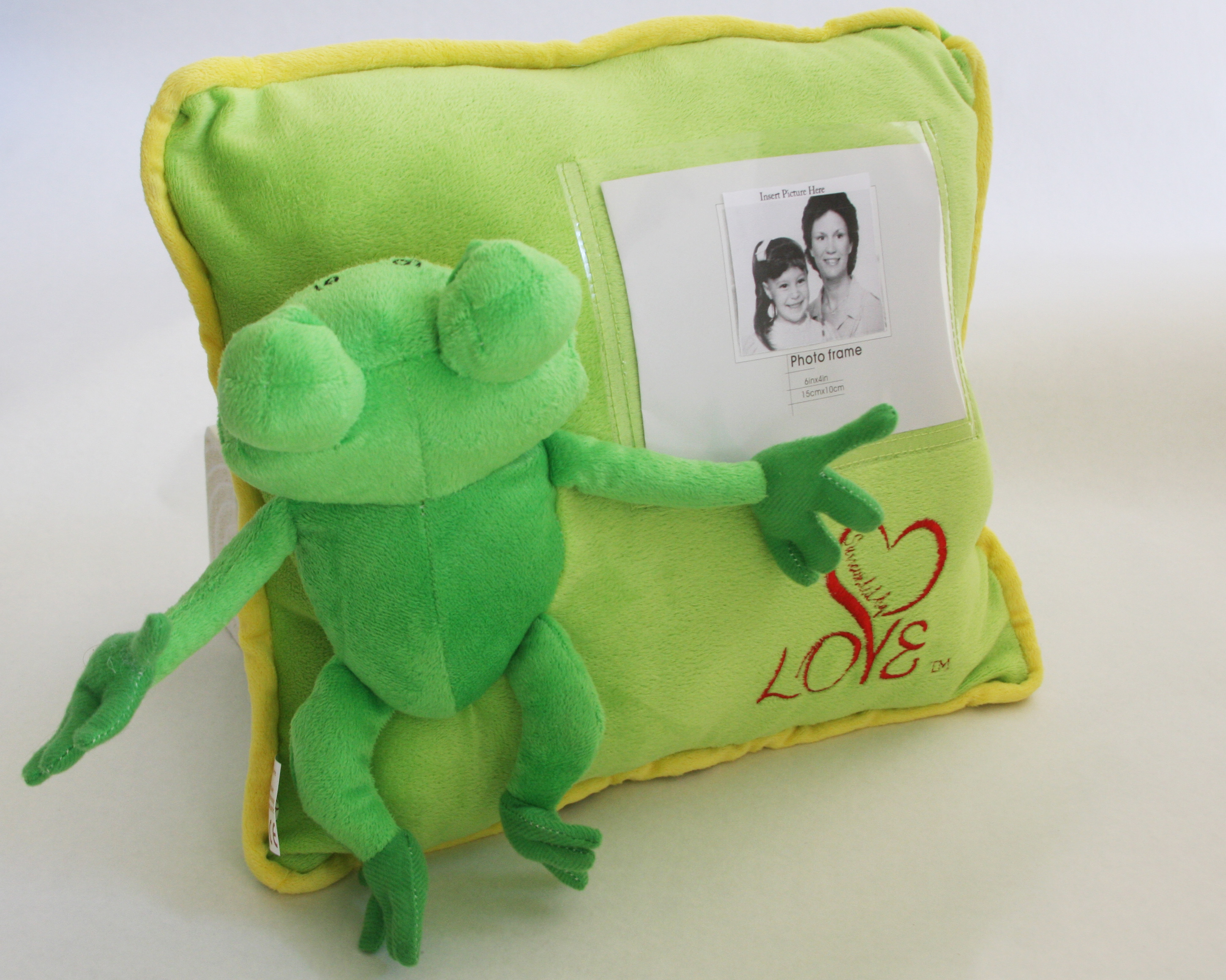 Ribbit personalized pillow Surrounded By Love