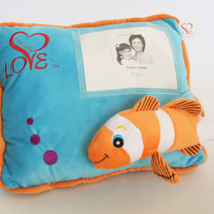Bubbles personalized pillow Surrounded By Love